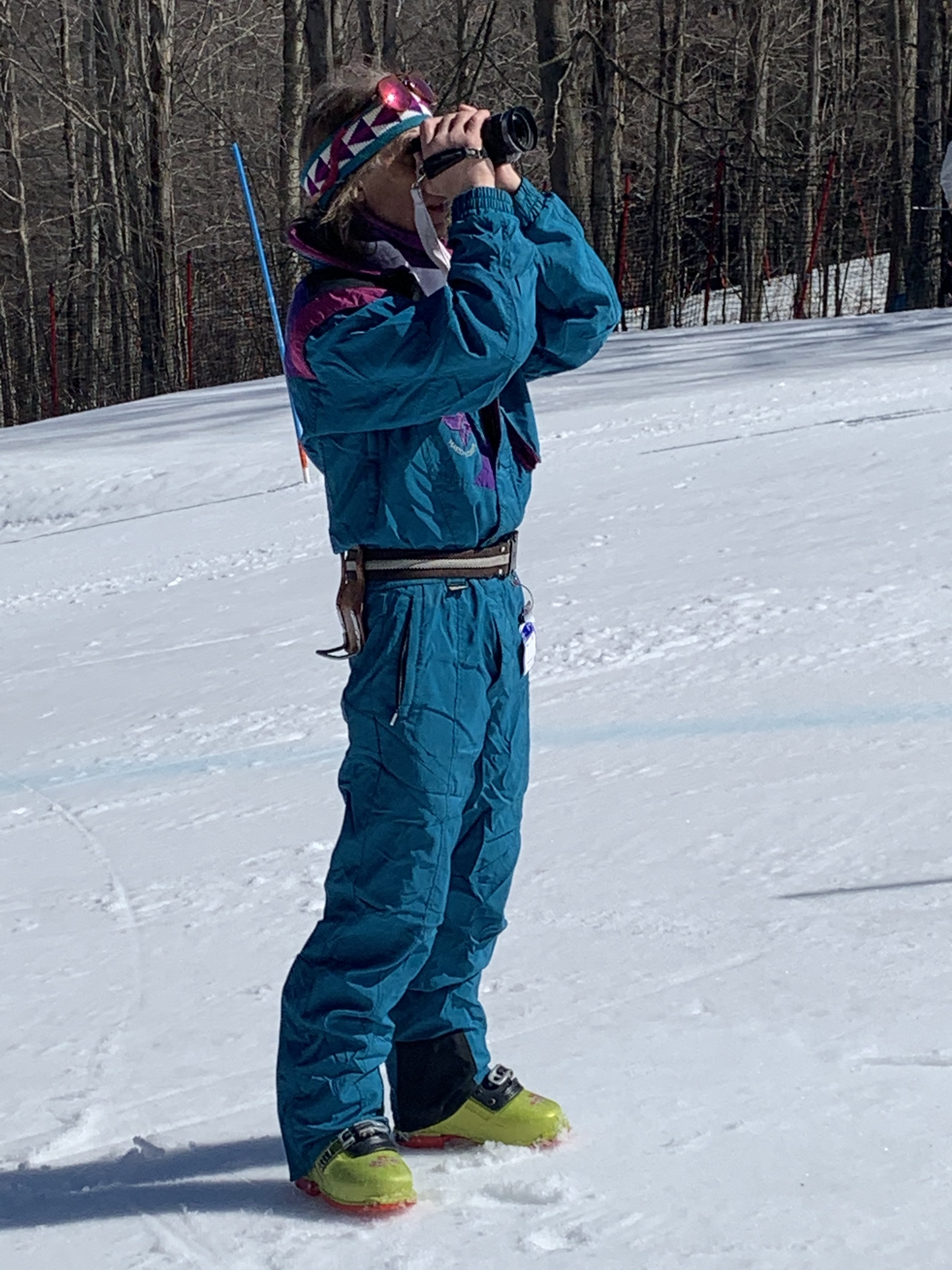 Fun spring skiing with costumes at our spring fest!
